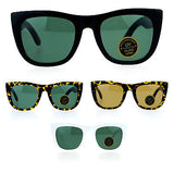 SA106 Vintage Style Glass Lens Rectangular High Point Plastic Sunglasses