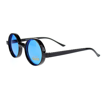 Color Lens Retro Classic Circle Lens Round Plastic 70s Hippie Groovy Sunglasses