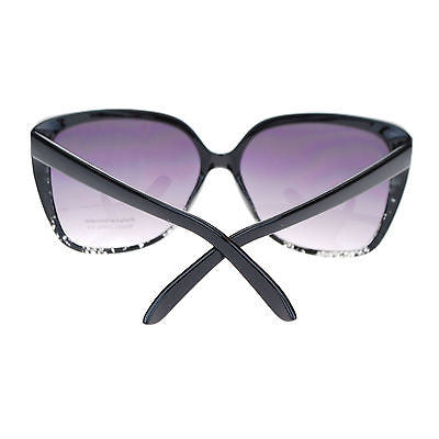 Womens Oversized Rectangular Squared Cat Eye Designer Fashion Diva Sunglasses