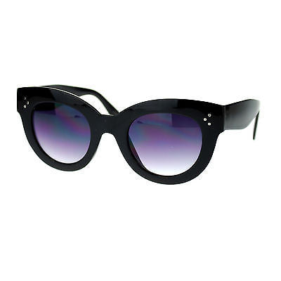 Womens Thick Plastic Horn Rim Mod Chic Retro Cat Eye Designer Fashion Sunglasses
