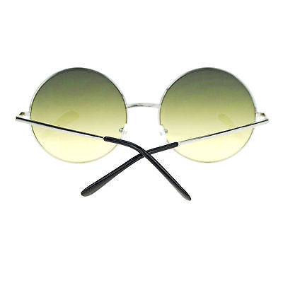 Womens Hippie Retro Groovy Gradient Oversize Circle Lens Round Runway Sunglasses