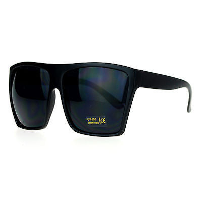 SA106 Mens Extra Large All Black Mad Dog Gangster Hip Hop Rapper Sunglasses