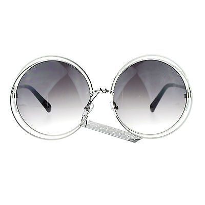 Avant Garde Double Circle Frame Round Designer Fashion Retro Sunglasses