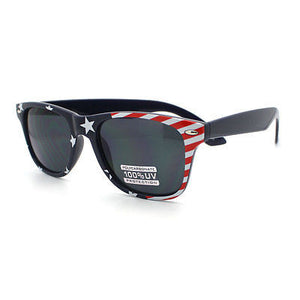 USA Flag Print  Horn Rim Sunglasses