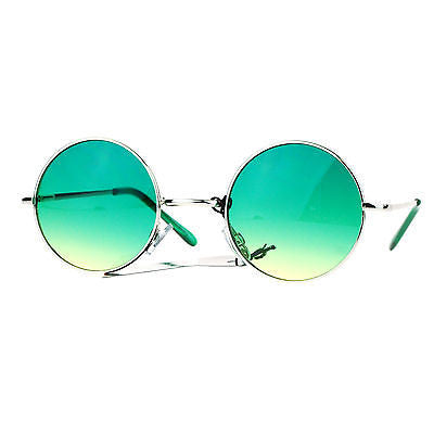 SA106 Retro Groovy Color Gradient Lens Circle Lens Round Hippie 70s Sunglasses