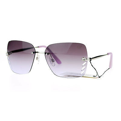 SA106 Womens Whisker Vent Lens Luxury Designer Fashion Rimless Sunglasses