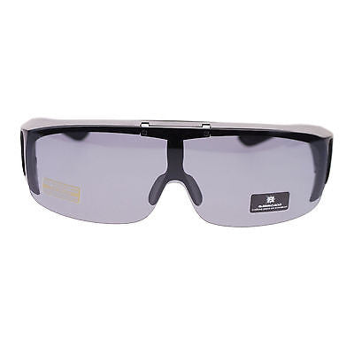 Barricade Large Oversize Mens Polarized Flip Up Fitover Wear Over Sunglasses