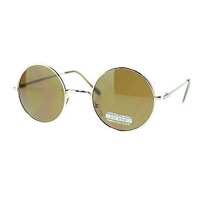 20s Retro Celebrity Hippie Artist Circle Lens Round Metal Rim Sunglasses