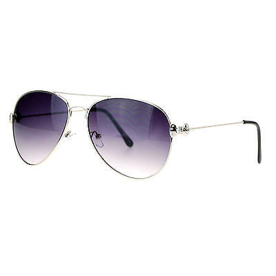 17b2d85ba34 ... SA106 Cute Womens Metal Ribbon Jewel Hinge Designer Fashion Aviator  Sunglasses ...