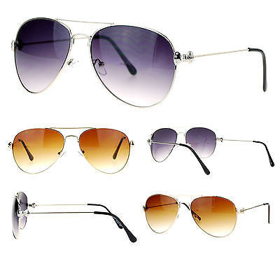 SA106 Cute Womens Metal Ribbon Jewel Hinge Designer Fashion Aviator Sunglasses