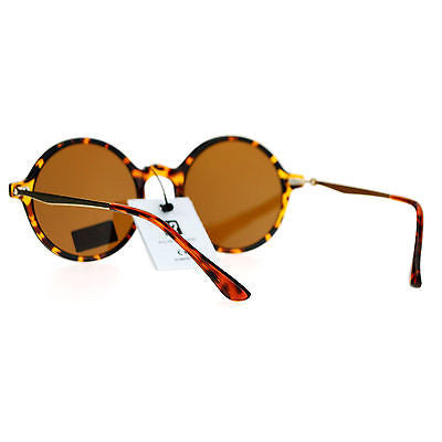 SA106 Color Mirror Mens Retro Trendy Flat Lens Round Circle Lens Sunglasses