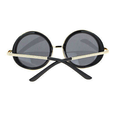 Hipster Side Visor Circle Round Lens Retro Victorian Steam Punk Sunglasses