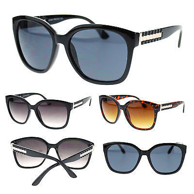 Womens Metal Chain Boyfriend Fit Large Plastic Butterfly Designer Sunglasses New
