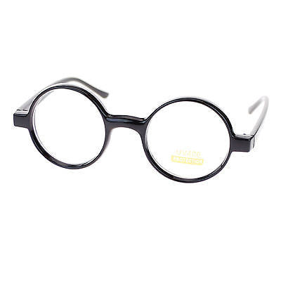 Unisex Retro Circle Lens Plastic Frame Round Clear Lens Eye Glasses New