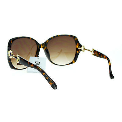 VG Eyewear Womens Bling Metal Buckle Hinge Large Butterfly Diva Sunglasses