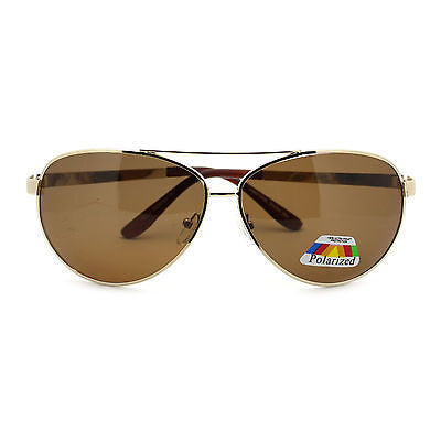 Anti Glare Polarized Mens Classic Top Gun Officer Metal Rim Aviator Sunglasses