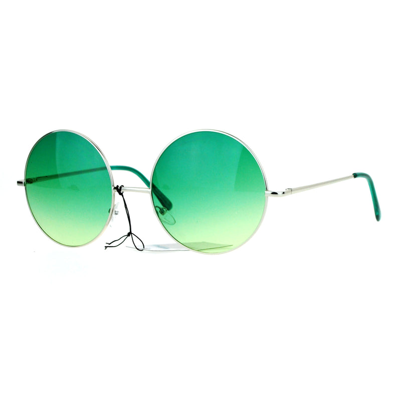 SA106 Hippie Oceanic Gradient Oversize Large Circle Lens Sunglasses