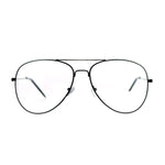 SA106 Classic Aviator Wire Rim Tear Drop Clear Lens Eye Glasses