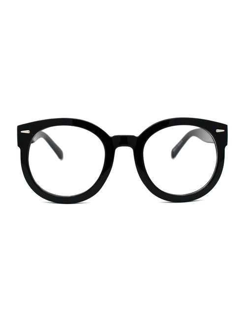 Oversized Round Thick Horn Rim Clear Lens Fashion Eye Glasses Frame