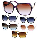 SA106 Side Expose Lens Butterfly Plastic Diva Womens Sunglasses