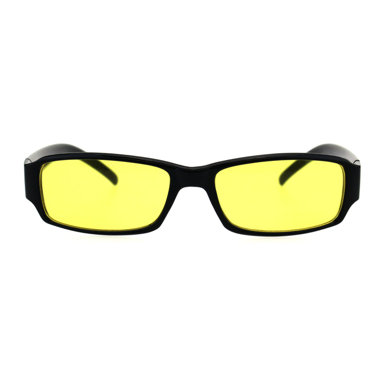 Classic Pimp Pop Color Lens Plastic Rectangular Sunglasses