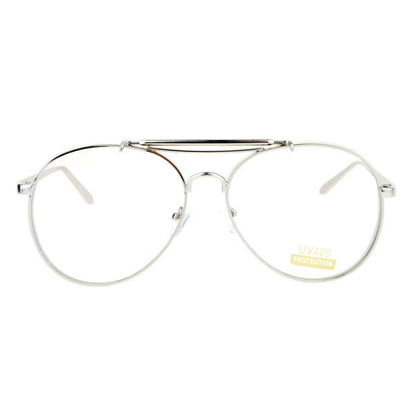 SA106 Vintage Thick Metal Visor Retro Aviator Eye Glasses