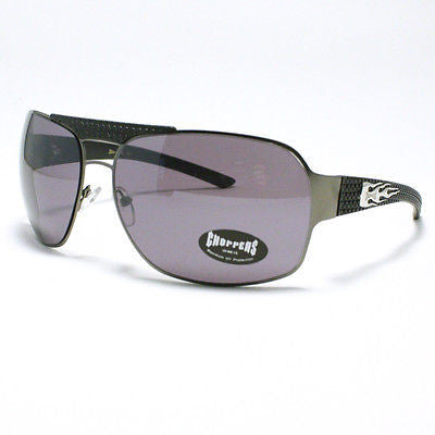 MOTOR RACING Sunglasses Choppers Navigator Square Aviator GUN METAL