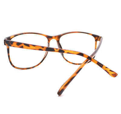 Tortoise Brown Large Nerdy Clear Lens Thin Horn Rim Geek Eye Glasses Frame New