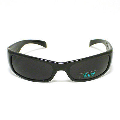 LOCS Sunglasses Gangster Cholo Style Dark BLACK New