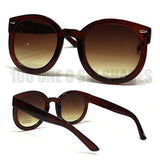 Retro Style Round Circle Sunglasses Oversized Thick Horn  New
