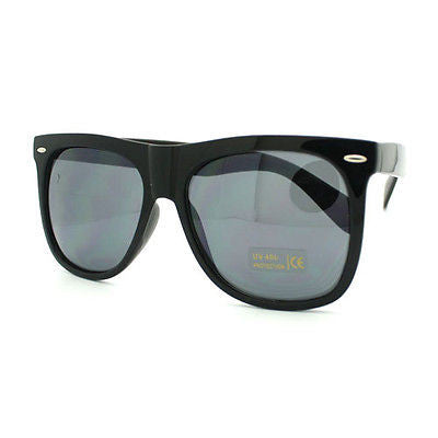 Thick Frame Horn Rimmed Oversized Retro Sunglasses BLACK New