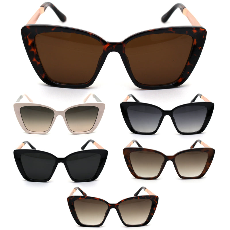 Womens Mod Chic Cat Eye Designer Sunglasses