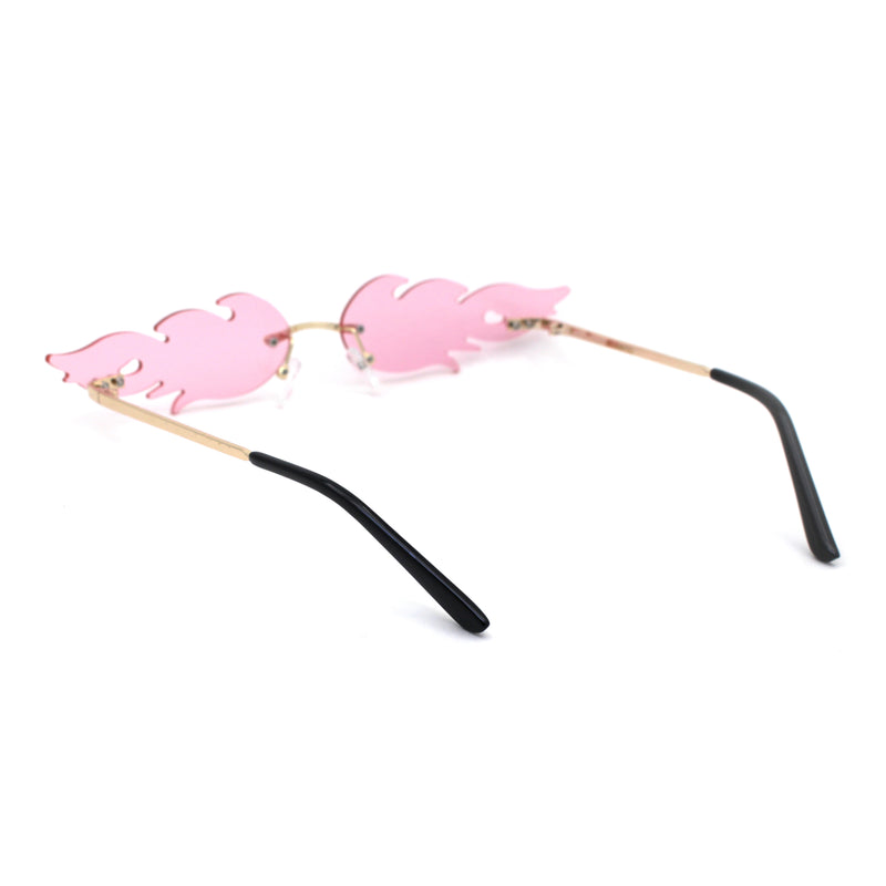 Unique Hot Rod Flame Shape Retro Cat Eye Funky Sunglasses