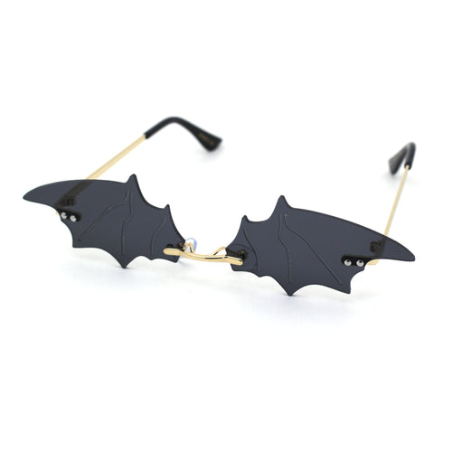 Unisex Bat Wing Unique Funk Rimless Pimp Sunglasses