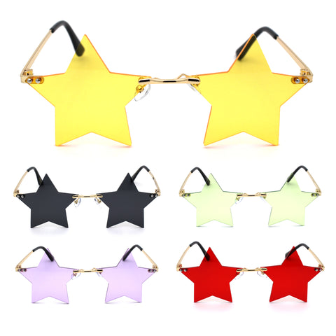 Star Shape Hippie Pop Color Lens Sunglasses