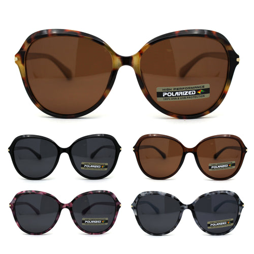 Polarized 90s Classic Butterfly Fashion Plastic Sunglasses