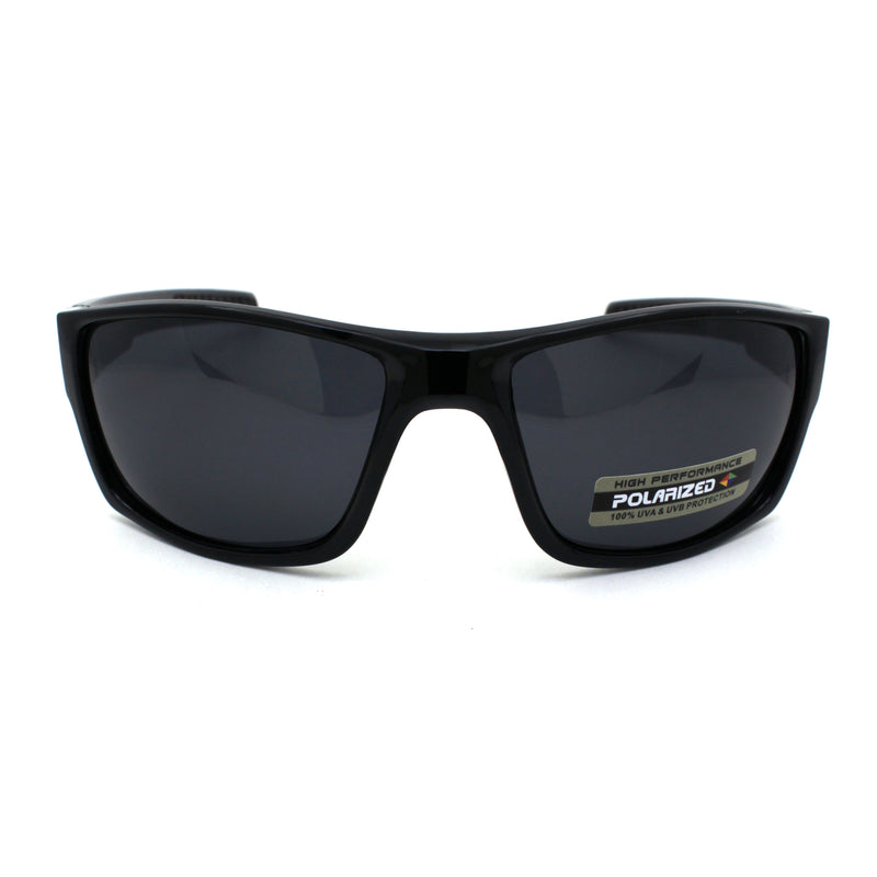 Xloop Polarized Mens Classic Biker Style Rectangle Sport Plastic Sunglasses