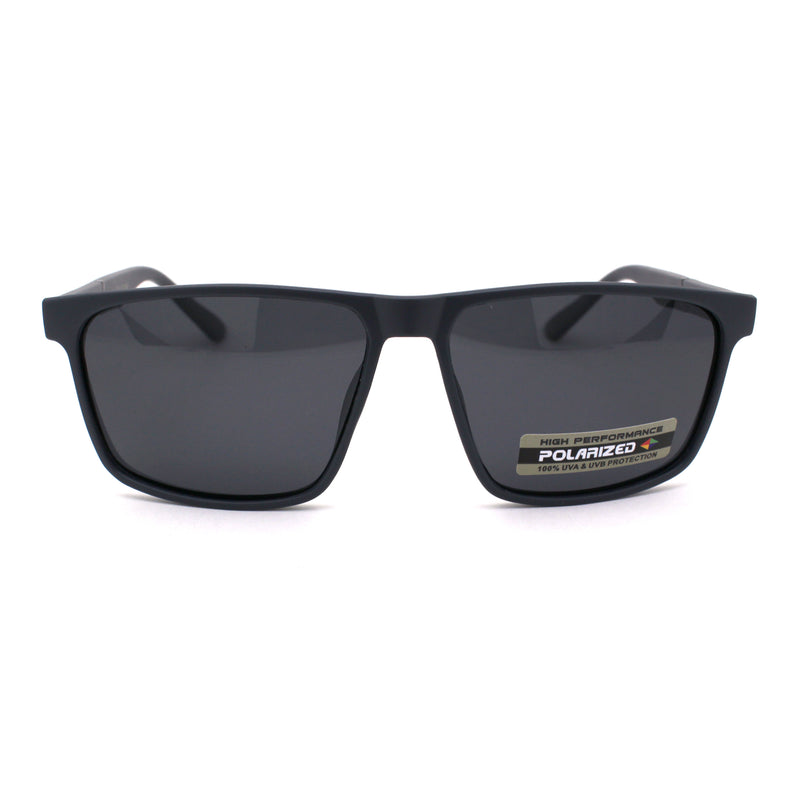 Polarized Mens Minimal Thin Plastic Agent Sport Sunglasses