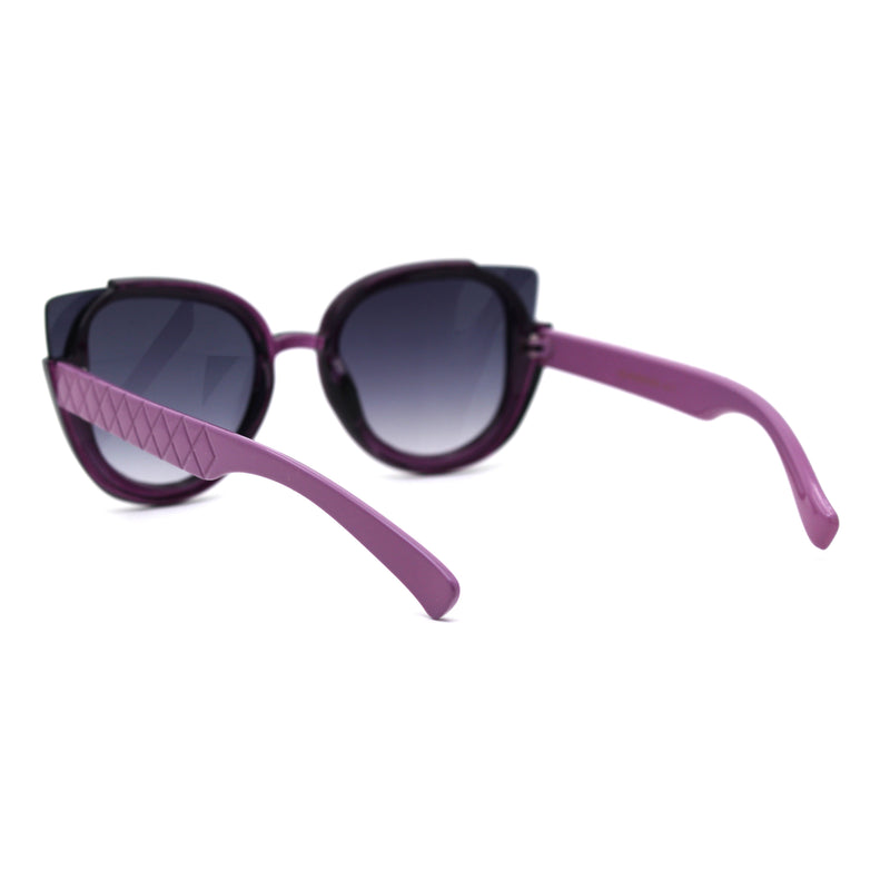 Girls Kid Size Exposed Kitty Cat Ear Large Cat Eye Sunglasses