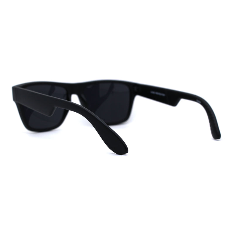 Mens 90s Hipster Rectangle Horn Rim Dapper Plastic Sunglasses