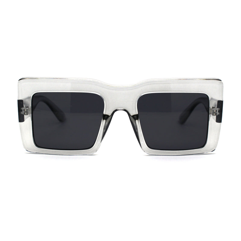 Womens Mod Thick Plastic Rectangle Sunglasses