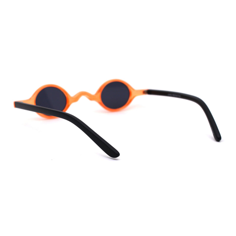 Mens Unique Tiny Round Circle Lens Hippie Pimp Plastic Sunglasses