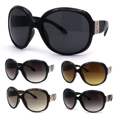 Womens Classic 90s Iconic Diva Fashion Plastic Sunglasses