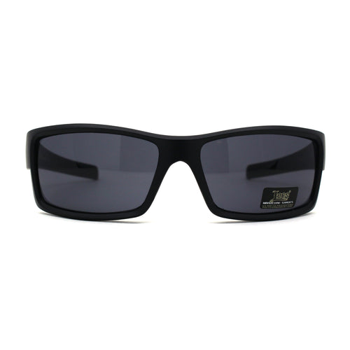Mens Locs Skull Pattern Arm Biker Gangster Rectangular Black Sunglasses