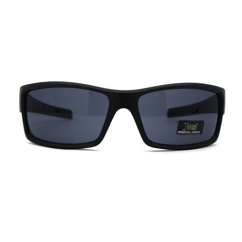 Mens Locs Weed Pattern Arm Biker Gangster Rectangular Black Sunglasses