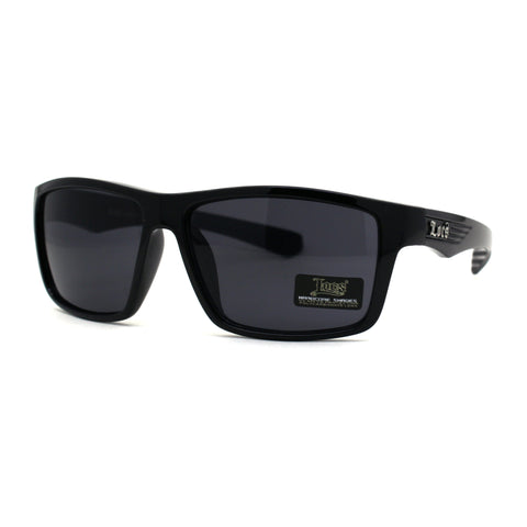 Mens Locs Warp Biker Gangster Sport All Black Sunglasses