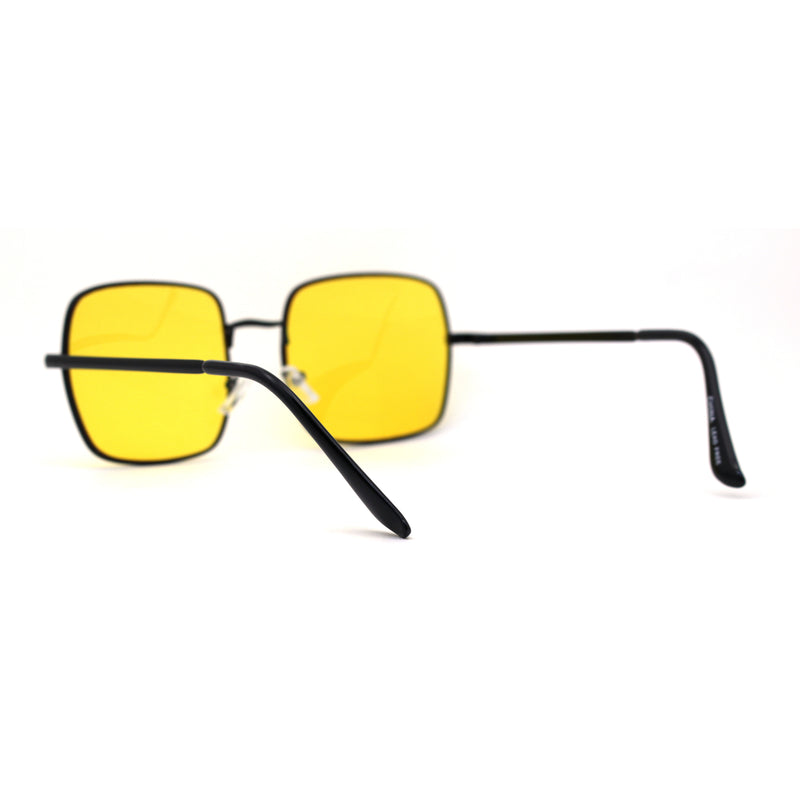 Funky Pimpy Hippie Square Pop Color Metal Rim Sunglasses