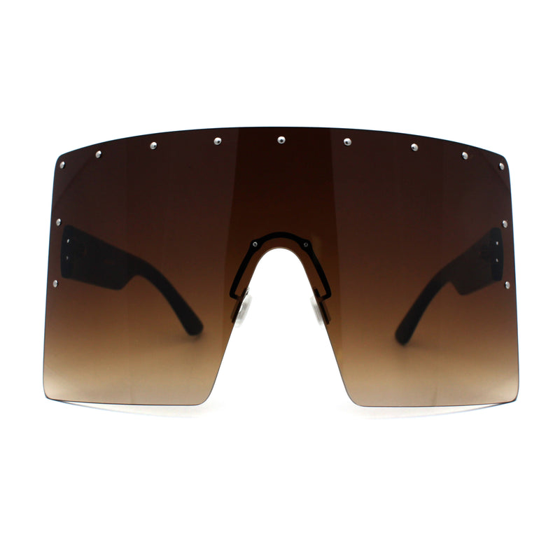Oceanic Tie Dye Extra Oversize Rectangle Shield Mask Style Sunglasses
