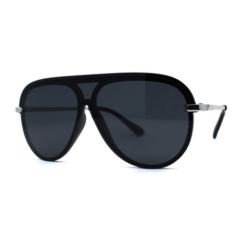 Luxury Half Rim Officer Style Racer Retro Fashion Sunglasses