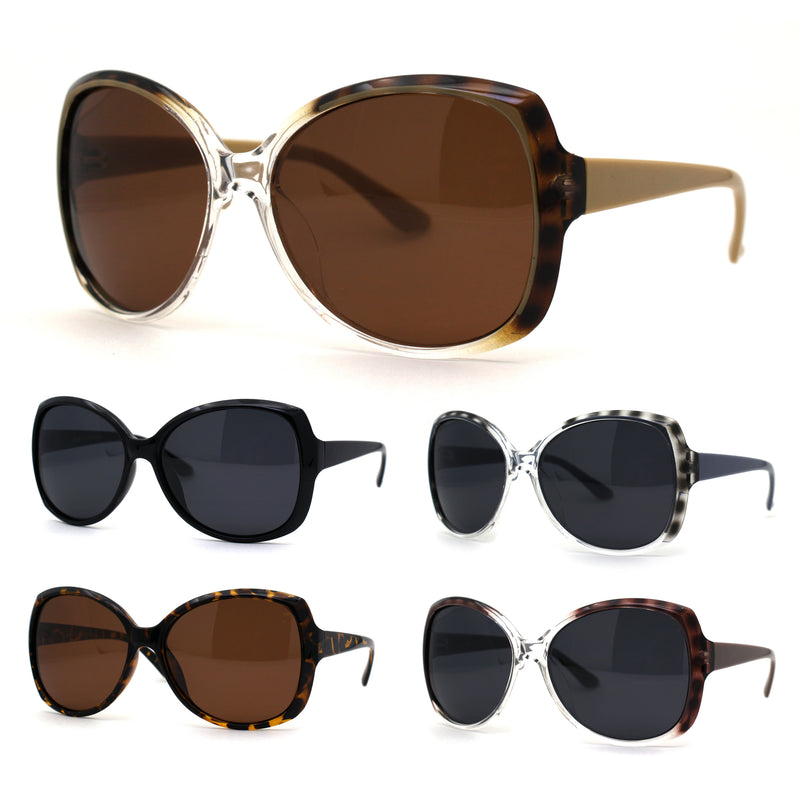 Polarized Mod Womens Plastic Butterfly Fashion Diva Sunglasses